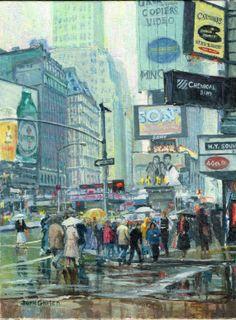 Original Street Scape of NY by GnatekBrothersStudio on Etsy