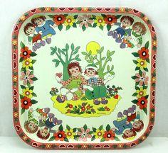 Raggedy Ann Andy Vintage Daher Tin Platter Pritchard England | eBay