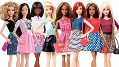 The new line of Barbie dolls from toy company Mattel.