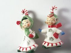 LEFTON Mid Century Antique Pair of Candy Cane by TKSPRINGTHINGS, $29.95