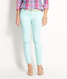 Shop Velveteen 5 Pocket Ankle Pants at vineyard vines (color Mint, size 4) $125