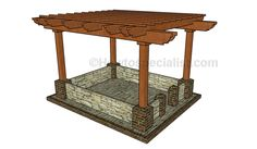 DIY Pergola Plans | HowToSpecialist - How to Build, Step by Step ...