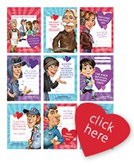 Free: Printable Valentine's Day cards!