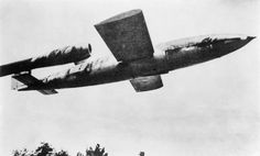 German V1 (Fiesler Fi 103) flying bomb, shortly after launch.