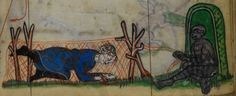 Detail from medieval manuscript, British Library Stowe MS 17 'The Maastricht Hours', f240r