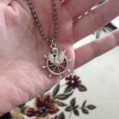Once Upon A Time Inspired Captain Swan Charm Necklace