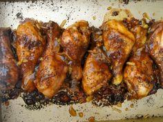 Sweet and sour low-sodium mandarin orange chicken wings.