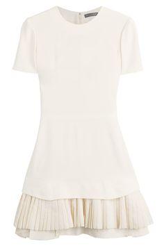 Alexander McQueen - Dress with Pleated Hem