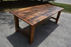 Rustic Reclaimed Barn Wood Harvest Table image 0 - jusr for me - Book epoxy Barn Table, Wood Table, Rustic Table, Steel Furniture, Custom Furniture, Wood And Metal, Solid Wood, Square Tables, Reclaimed Barn Wood