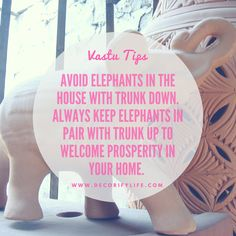 Vastu Tips to bring prosperity to your home! Avoid elephants in the house with trunk down. Always keep elephants in pair with trunk up to welcome prosperity in your home. Cute Dorm Rooms, Cool Rooms, Farmhouse Side Table, Rustic Farmhouse, Feng Shui, Ship Lap Walls, Home Look, Living Room Designs, Things To Come