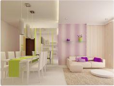Salon, belle combinaison de couleurs
