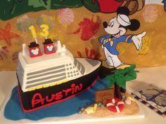 Disney Cruise Cake Owens 4th birthday cake ideas Pinterest