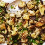 Rustic Herb Stuffing Recipe | Epicurious.com A very yummy stuffing ...