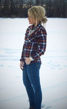 country girl winter outfits, pearls outfit, plaid shirts, cute flannel outfits