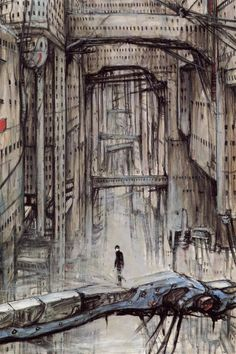 From Blame!, by Tsutomu Nihei--nice bridge!