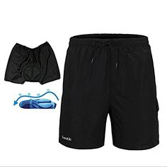 TRUVELO Mens Mountain Loose-fit Biking Shorts Padded Coolmax Cycling MTB Short
