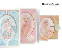 Kanban Crafts Arts And Crafts House, Diy Home Crafts, Crafts To Sell, Kanban Cards, Debbie Moore, Art Deco Cards, Hunkydory Crafts, Art Deco Design, Vintage Ladies