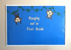 Monkey Bulletin Boards, Summer Bulletin Boards, Halloween Bulletin Boards, Back To School Bulletin Boards, Preschool Bulletin Boards, Valentines Day Bulletin Board, Jungle Party, Jungle Safari, Jungle Theme