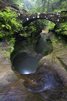 Hocking hills state park in Ohio ....the Devils Bathtub