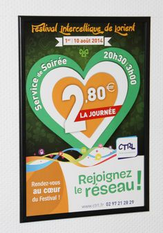 Affiche réalisée pour la campagne commerciale de la CTRL lors du Festival #Interceltique de #Lorient 2014