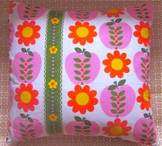 vintage fabric Pippin Sundour cushion cover by Pomme de Jour