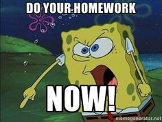 do my homework now i ll do it later