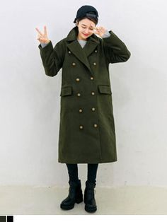 Today's Hot Pick :Brass Button Long Coat http://fashionstylep.com/SFSELFAA0006617/yubsshopen/out Finish your get-up intelligently stylish with this classic coat. It comes with a notch lapel, double-breasted closure with brass buttons, long sleeves with panels, flap pockets, overall loose fit with below-knee length. Wear over any midi dress. - Long coat - Notch lapel - Double-breasted with brass buttons - Long sleeves with panels - Flap pockets - Available colors: Khaki and Black