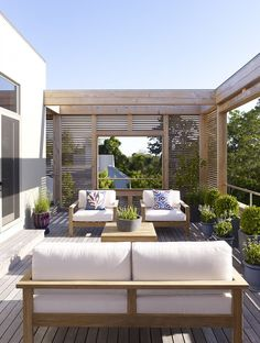 Terrace in a Hamptons residence designed by Austin Patterson Disston Architects