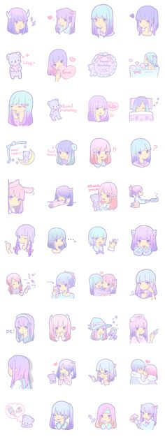 We are pastel color girls. Please use this stamp for a favorite person.