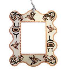 Native Hummingbird Photo Frame Ornament