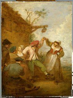"""""""La Vraie gaieté"""" d'Antoine Watteau (1684-1721). Valenciennes, musée des Beaux-Arts - Photo (C) RMN-Grand Palais / René-Gabriel Ojéda / Thierry Le Mage"""