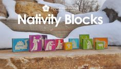 Step by step #HowTo for these adorable #Nativity #Blocks.