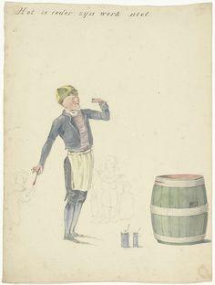 Pieter van Loon | Schooljongen die een ton beschildert, Pieter van Loon, Donjean, L. Michau, 1811 - 1873 |