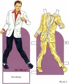 ELVIS PAPER DOLL : GOLD SUIT