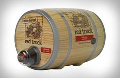 Mini wine barrel that holds 4 bottles. Great for summer parties. $30