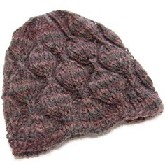 Perfect for the advanced beginner, the Embossed Leaves Hat is sure to be a great accessory to any fall wardrobe.