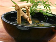 Bamboo Fountain. Shishi Odoshi. Something for my Japanese garden in pots.