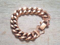 Renoir Bracelet Vintage RENOIR Copper Link by TheCopperCat on Etsy