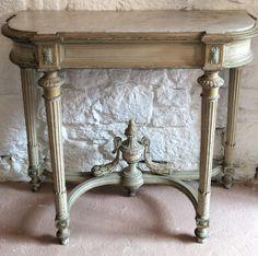 Console en bois Laquée Style Louis XVI, Antiquités Braga, Proantic