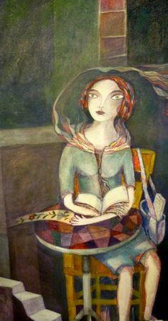 Resultado de imagen de mujer leyendo libros