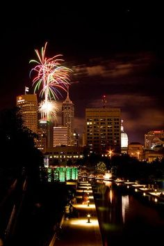 4th of July Fireworks, 2013 downtown Indianapolis