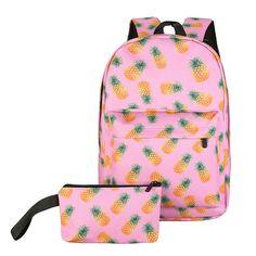 Elegance  Unisex Leisure Print Pineapple /Monkey Backpacks Printing Bags Backpack mochila Billetera DEC28-in Backpacks from Luggage & Bags on Aliexpress.com | Alibaba Group