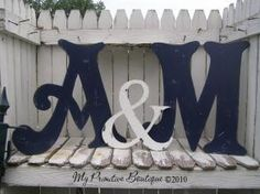 Navy Blue letter for your wedding