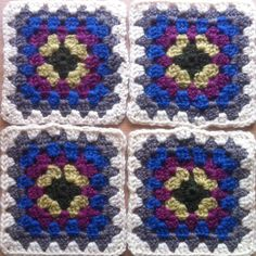 Squares from my granny squares blanket.