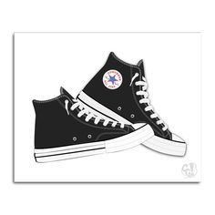Black Converse Shoes Graphic Illustration by TheCameraGraphic
