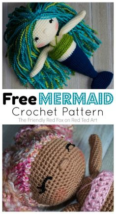 crochet amigurumi Free Mermaid Crochet Pattern - Love this Mermaid Doll Pattern. Learn how this fab Crocket Mermaid Pattern. Crochet Doll Tutorial, Crochet Doll Pattern, Crochet Dolls, Crochet Patterns, Amigurumi Patterns, Mermaid Crafts, Mermaid Diy, Mermaid Dolls, Cute Crochet