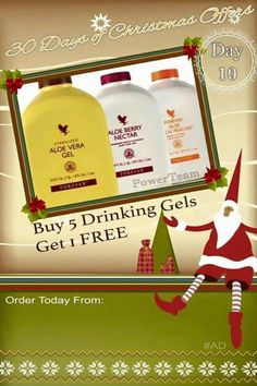 🌲DAY 10 OF THE 30 DAYS OF CHRISTMAS OFFERS🌲 November Are you drinking Aloe Vera yet? If you already understand the cocktail nutrients aloe provides, you will love today's deal as part of the 30 days of Christmas! Christmas Fairy, Christmas Gifts, Xmas, Christmas Ornaments, Christmas 2015, Forever Living Business, Christmas Offers, Forever Aloe, Look Good Feel Good