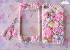 Kawaii Decoden Phone Case, Sweet Cookies Friend Phonecase for Iphone 5 6 7 8 X plus and Samunsg Galaxy 7 8 9 note - Sweet Cookies Friend case – Super cute kawaii full body front back case for 4 - Iphone 5 Case, Diy Phone Case, Iphone 7 Plus Cases, Phone Cover, Iphone Phone, Phone Wallet, Kawaii Phone Case, Decoden Phone Case, Cute Cases