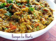 Paleo Spicy Baingan ka Bharta (Indian Eggplant) - My Heart Beets Indian Food Recipes, Asian Recipes, Whole Food Recipes, Vegetarian Recipes, Cooking Recipes, Healthy Recipes, Ethnic Recipes, Indian Foods, Paleo Food