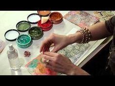 Heartfelt Creations Create Shimmery Mixed Media Backgrounds